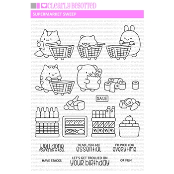 Clearly Besotted SUPERMARKET SWEEP Clear Stamps