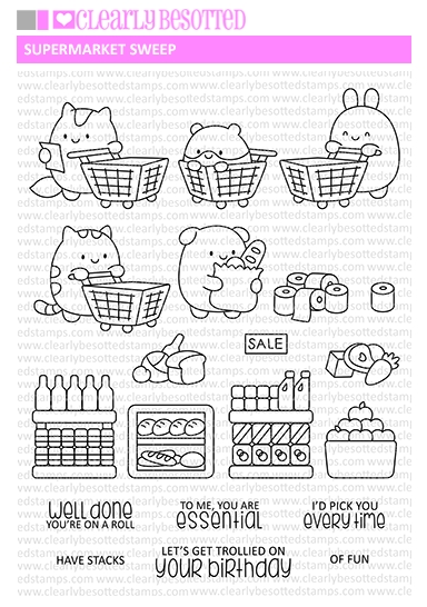 Clearly Besotted SUPERMARKET SWEEP Clear Stamps zoom image