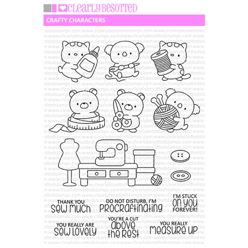 Clearly Besotted CRAFTY CHARACTERS Clear Stamps Preview Image