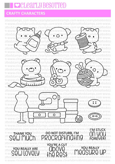 Clearly Besotted CRAFTY CHARACTERS Clear Stamps zoom image
