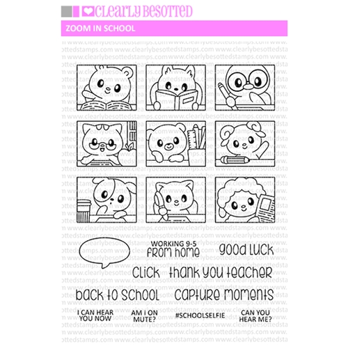 Clearly Besotted ZOOM IN SCHOOL Clear Stamps Preview Image