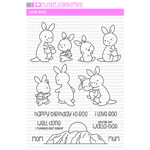 Clearly Besotted LOVE ROO Clear Stamps Preview Image