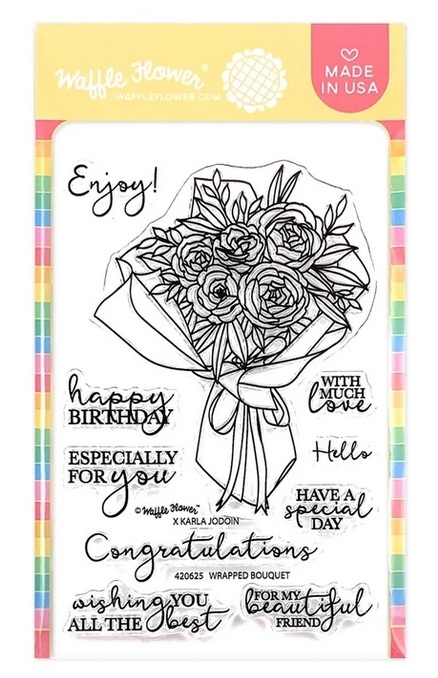 Waffle Flower WRAPPED BOUQUET Clear Stamps 420625 zoom image
