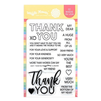 Waffle Flower THANK YOU Clear Stamps 420571