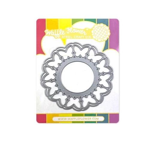 Waffle Flower CIRCLE BUTTERFLY SHAKER Dies 420614 Preview Image