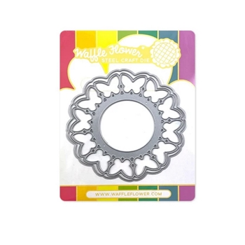 Waffle Flower CIRCLE BUTTERFLY SHAKER Dies 420614