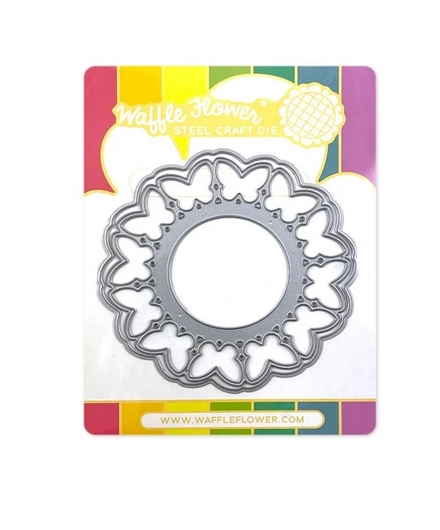 Waffle Flower CIRCLE BUTTERFLY SHAKER Dies 420614 zoom image