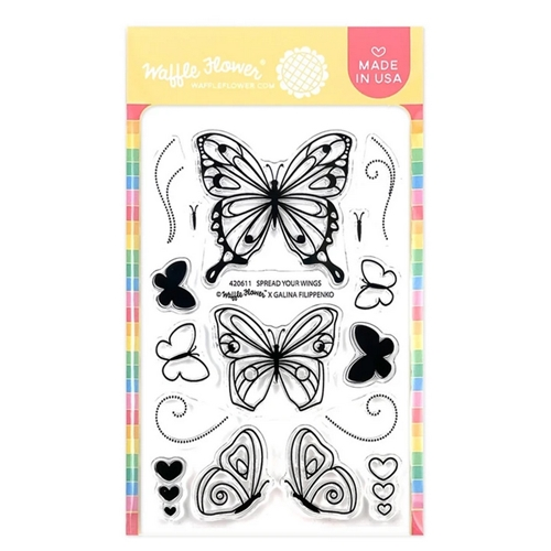 Waffle Flower SPREAD YOUR WINGS Clear Stamps 420611 Preview Image