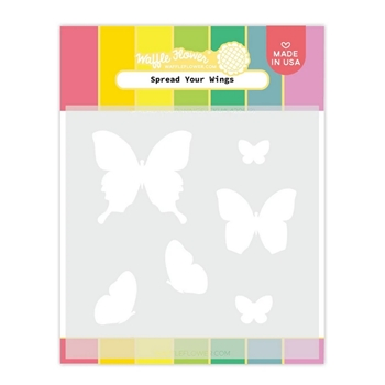 Waffle Flower SPREAD YOUR WINGS Stencil 420613