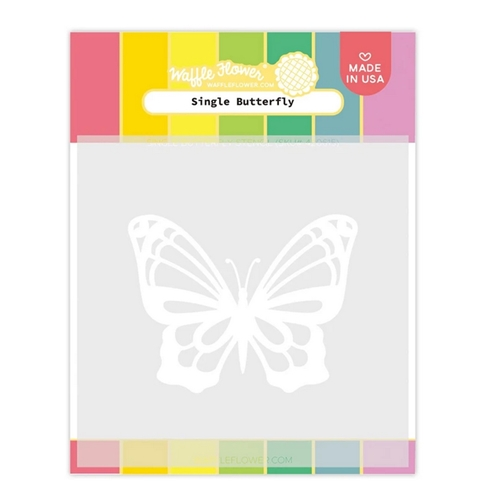 Waffle Flower SINGLE BUTTERFLY Stencil 420615 Preview Image