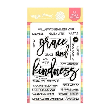 Waffle Flower OVERSIZED GRACE AND KINDNESS Clear Stamps 420573