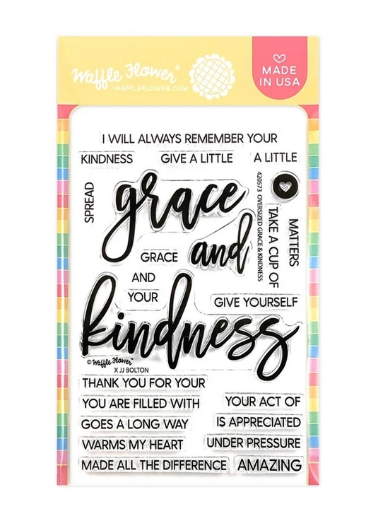 Waffle Flower OVERSIZED GRACE AND KINDNESS Clear Stamps 420573 zoom image