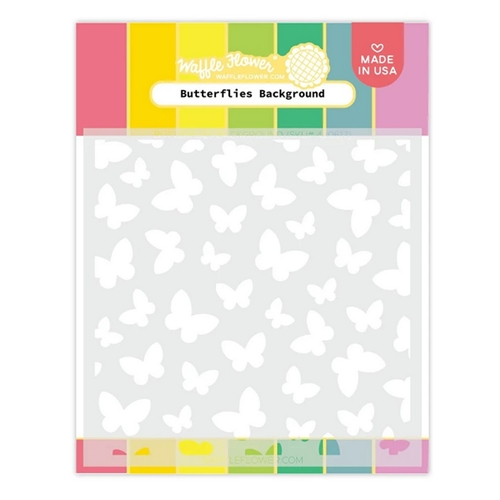 Waffle Flower BUTTERFLIES BACKGROUND Stencil 420617 Preview Image