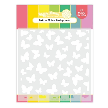 Waffle Flower BUTTERFLIES BACKGROUND Stencil 420617