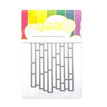 Waffle Flower LABEL MAKER SENTIMENTS Dies 420622