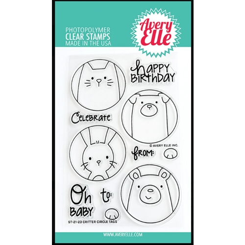 Avery Elle Clear Stamps CRITTER CIRCLE TAGS ST 21 23 Preview Image