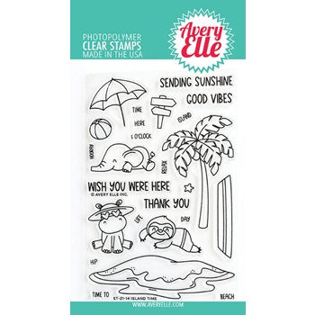 Avery Elle Clear Stamps ISLAND TIME ST 21 14