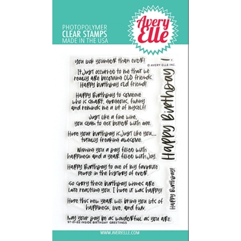 Avery Elle Claar Stamps INSIDE BIRTHDAY GREETINGS ST 21 22