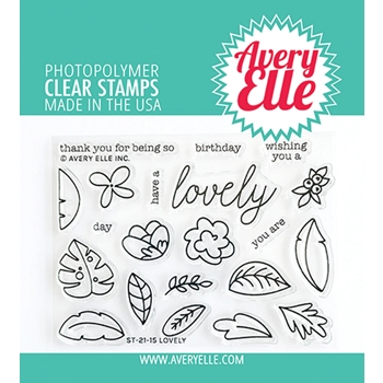Avery Elle Clear Stamps LOVELY ST 21 15