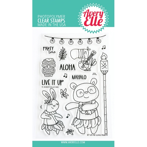 Avery Elle Clear Stamps LUAU PARTY ST 21 13 Preview Image