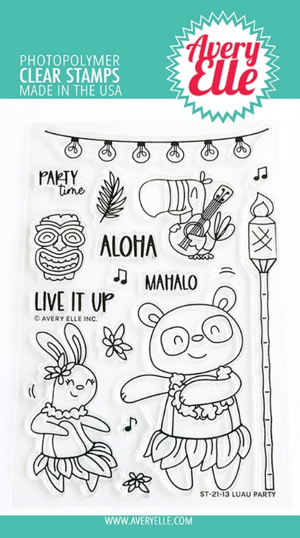 Avery Elle Clear Stamps LUAU PARTY ST 21 13 zoom image