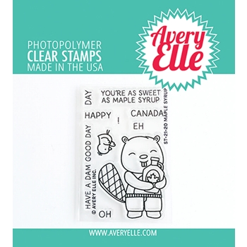 Avery Elle Clear Stamps MAPLE SYRUP ST 21 20