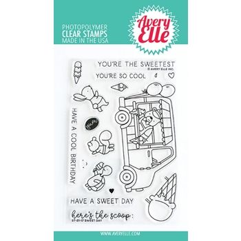 Avery Elle Clear Stamps SWEET DAY ST 21 17