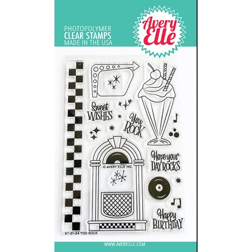Aver Elle Clear Stamps YOU ROCK ST 21 24 Preview Image