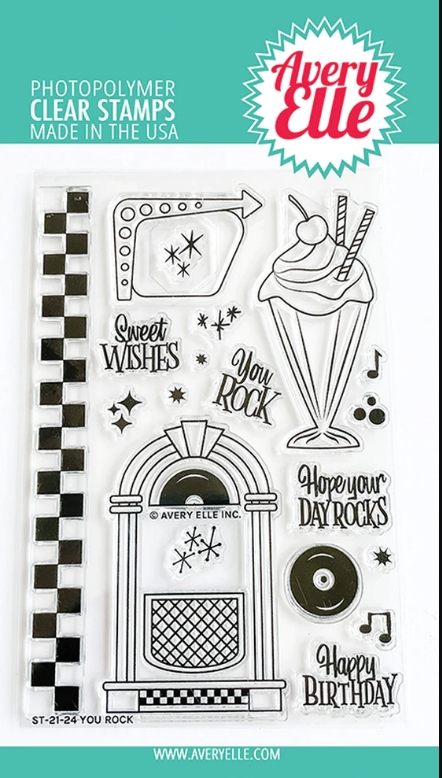 Aver Elle Clear Stamps YOU ROCK ST 21 24 zoom image