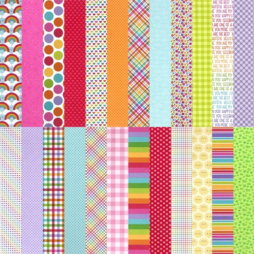 Doodlebug Exclusive CUSTOM RAINBOW 2021 6x6 Inch Papers sssdb21 Preview Image