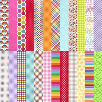 Doodlebug Exclusive CUSTOM RAINBOW 2021 6x6 Inch Papers sssdb21