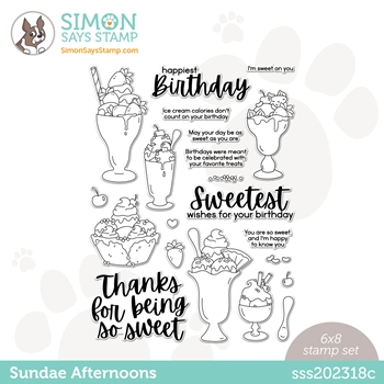 Simon Says Clear Stamps SUNDAE AFTERNOONS sss202318c