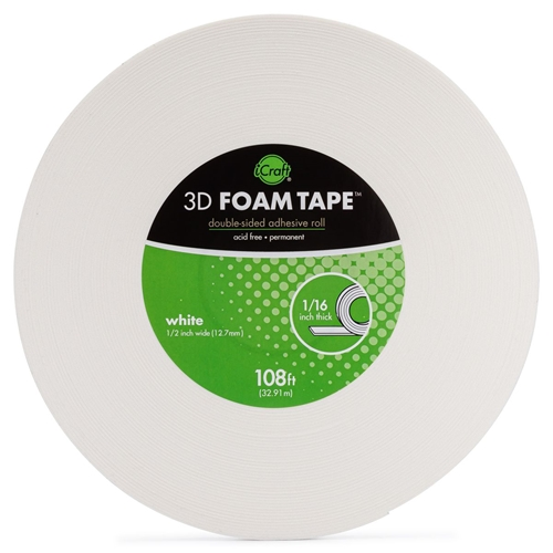 Therm O Web WHITE 3D FOAM TAPE JUMBO ROLL iCraft 5607 Preview Image