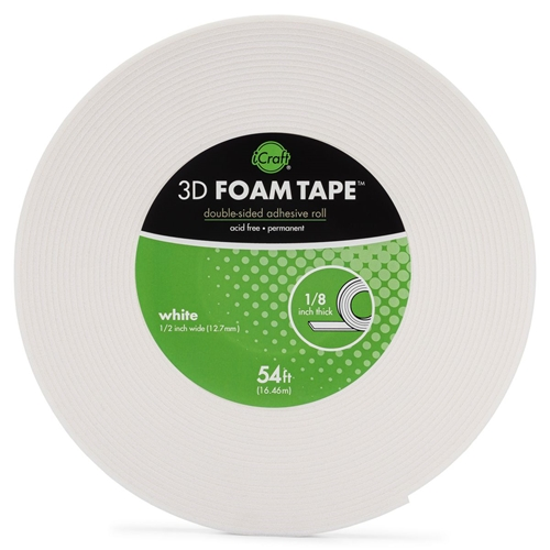 Therm O Web WHITE 3D FOAM TAPE JUMBO ROLL iCraft 5610 Preview Image