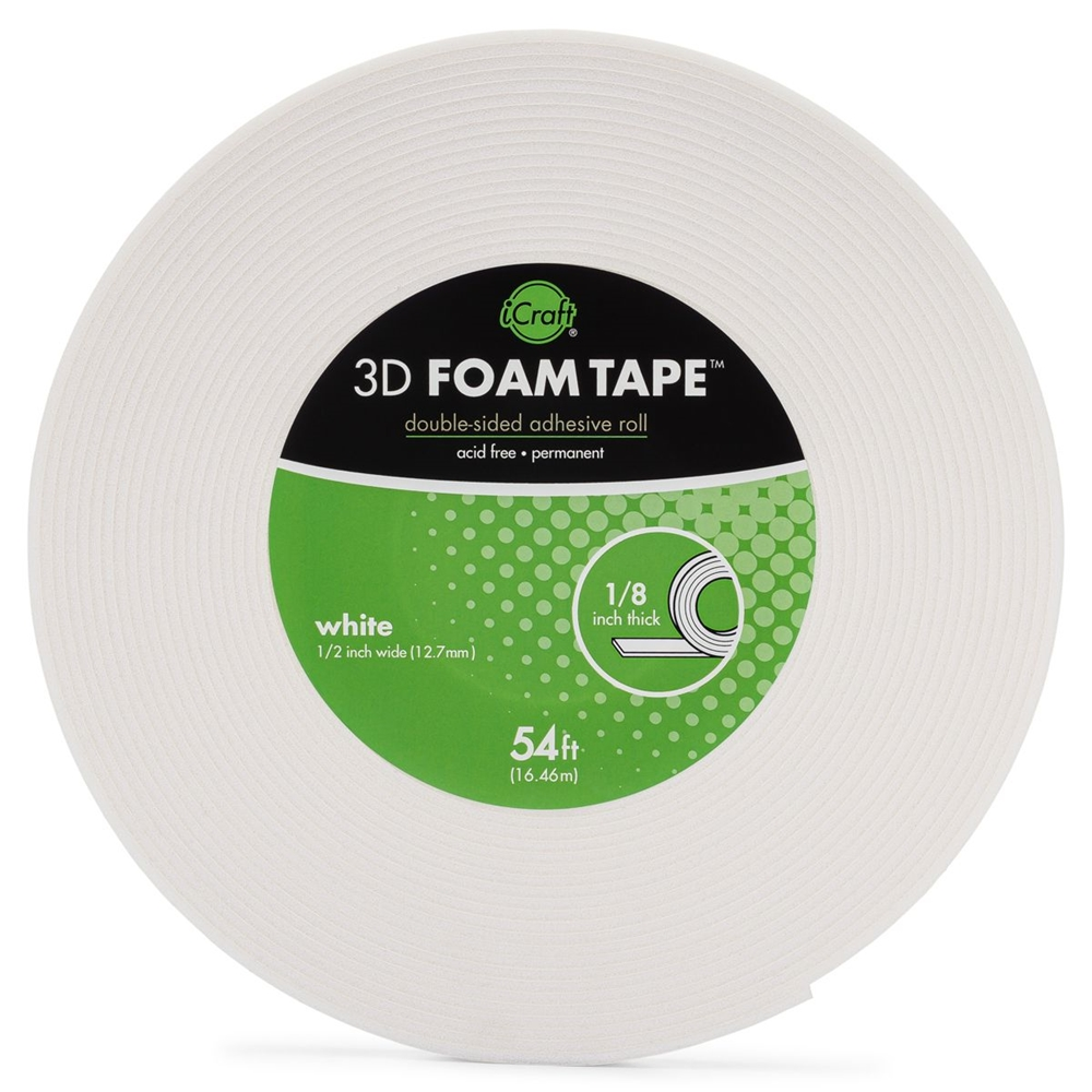 Therm O Web WHITE 3D FOAM TAPE JUMBO ROLL iCraft 5610 zoom image