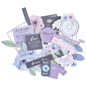 Kaisercraft LILAC MIST Collectables Die Cut Shapes ct994