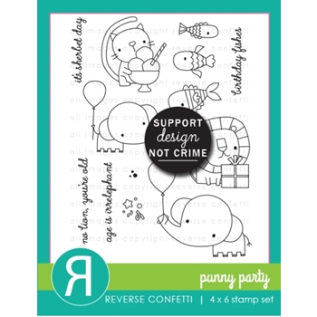Reverse Confetti PUNNY PANTRY Clear Stamps