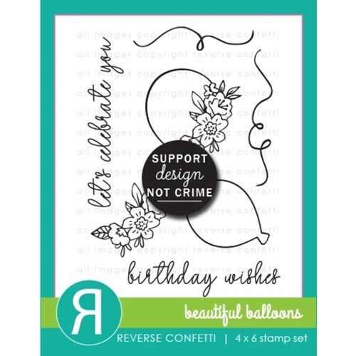 Reverse Confetti BEAUTIFUL BALLOONS Clear Stamps Preview Image