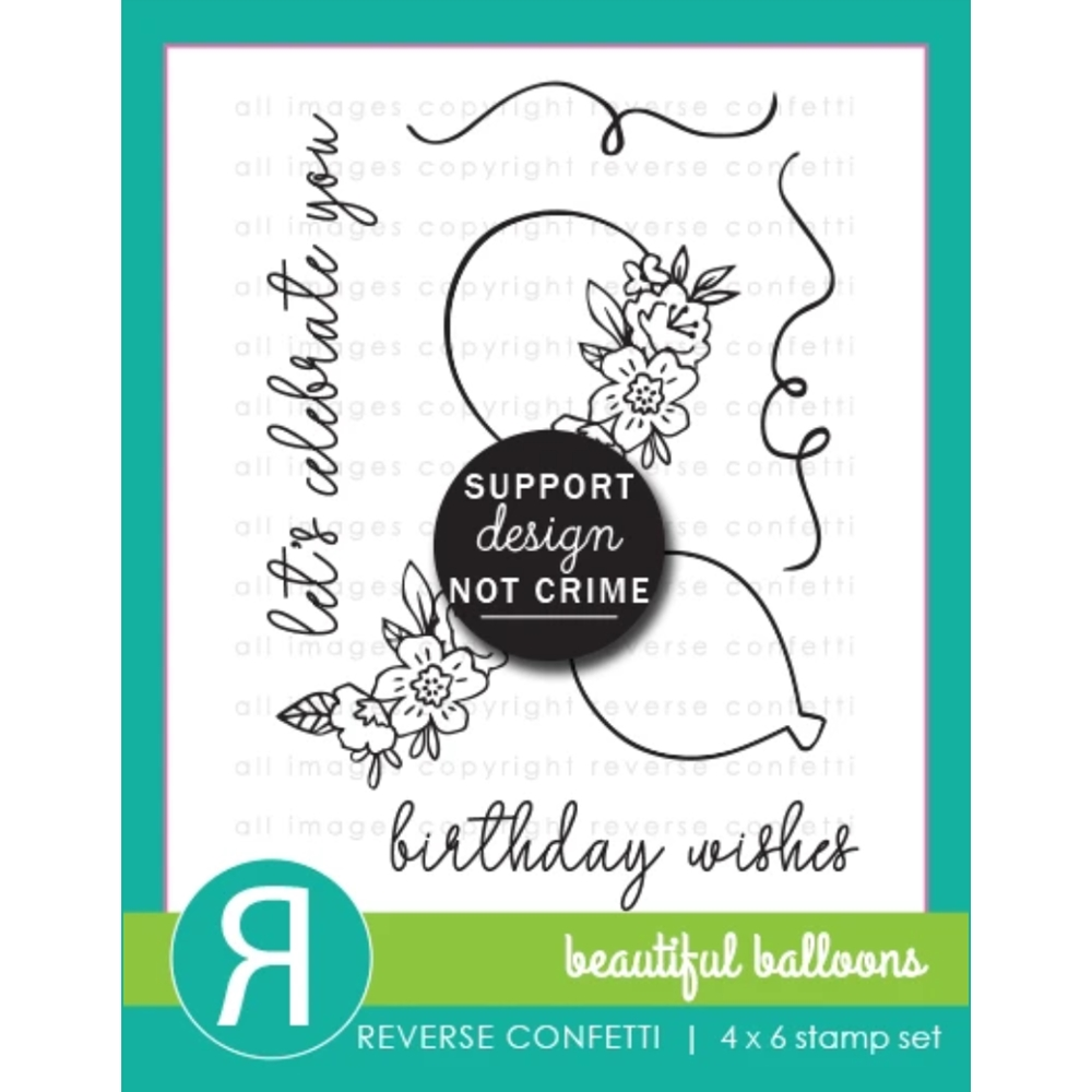 Reverse Confetti BEAUTIFUL BALLOONS Clear Stamps zoom image