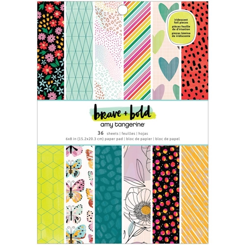American Crafts Amy Tangerine BRAVE AND BOLD 6x8 Paper Pad 34002104 Preview Image