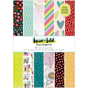 American Crafts Amy Tangerine BRAVE AND BOLD 6x8 Paper Pad 34002104