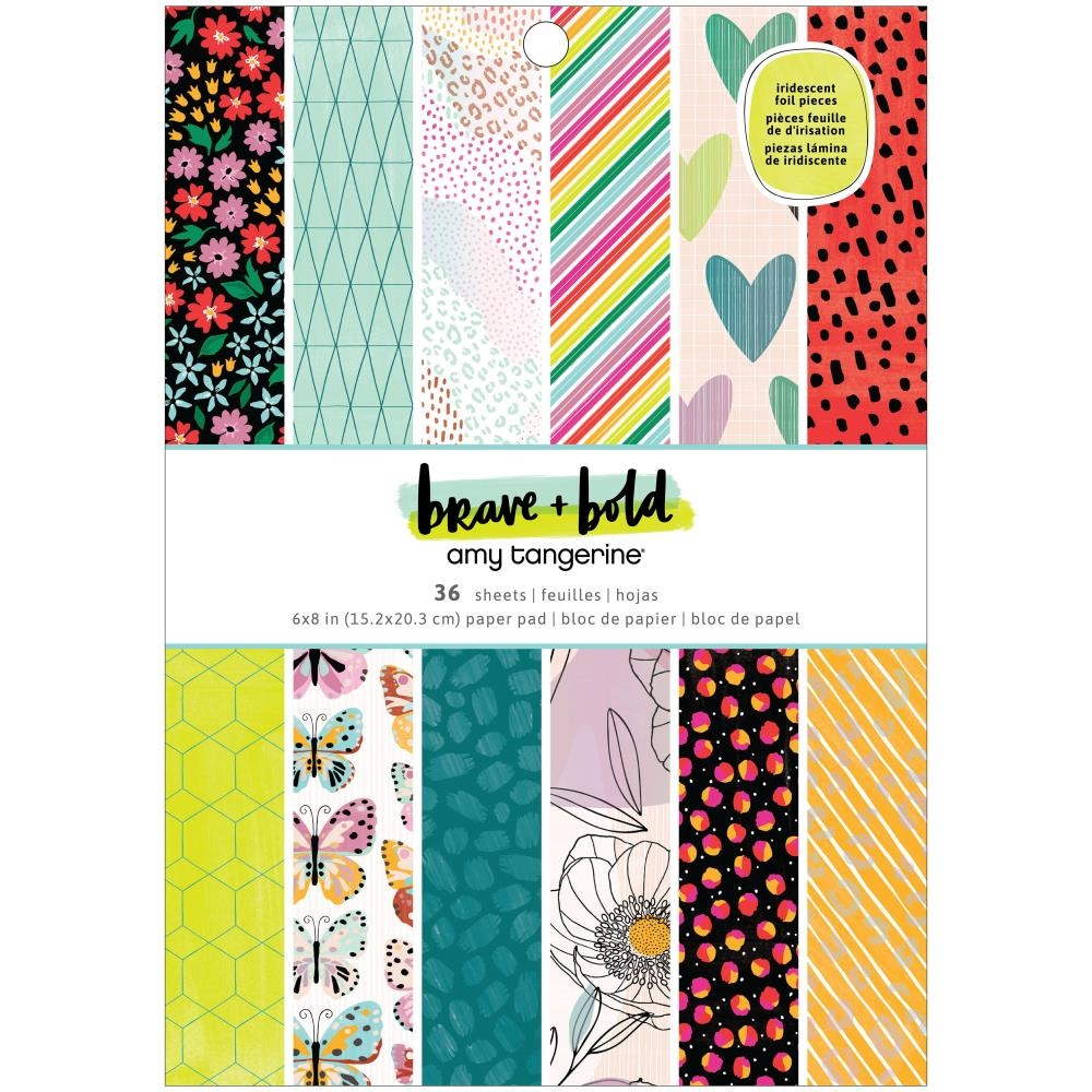 American Crafts Amy Tangerine BRAVE AND BOLD 6x8 Paper Pad 34002104 zoom image