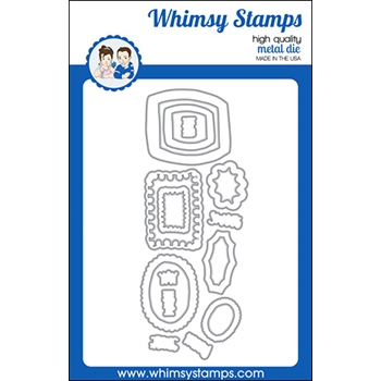 Whimsy Stamps DOODLE FRAMES Outline Dies WSD541