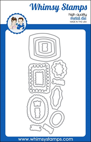 Whimsy Stamps DOODLE FRAMES Outline Dies WSD541 zoom image