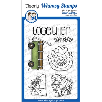 Whimsy Stamps FILL A WAGON Clear Stamps BS1027