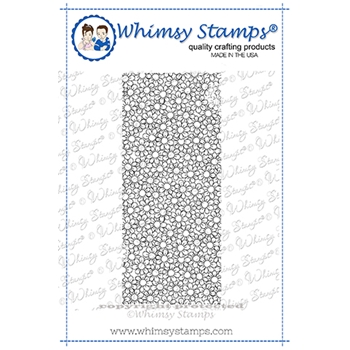 Whimsy Stamps SLIMLINE DELIGHTFUL DAISIES Cling Stamp DDB0019a