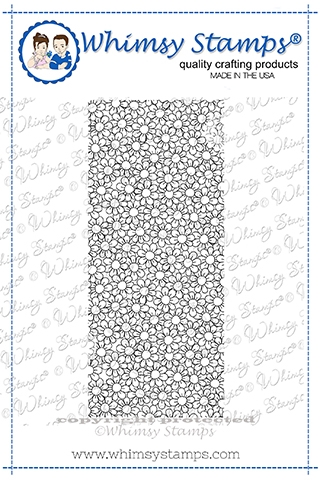 Whimsy Stamps SLIMLINE DELIGHTFUL DAISIES Cling Stamp DDB0019a zoom image