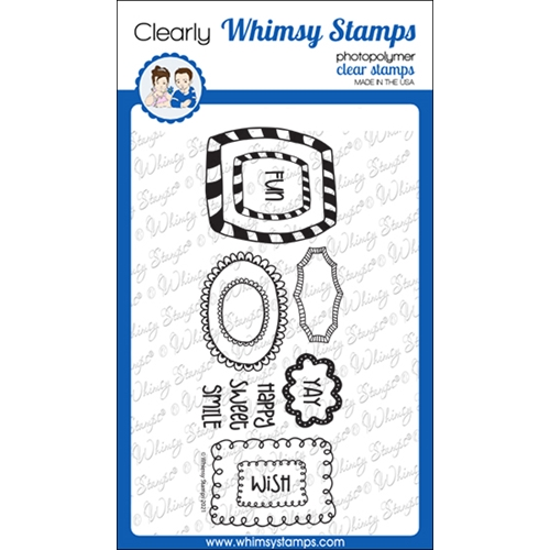 Whimsy Stamps DOODLE FRAMES Clear Stamps CWSD371 Preview Image