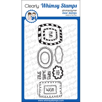 Whimsy Stamps DOODLE FRAMES Clear Stamps CWSD371