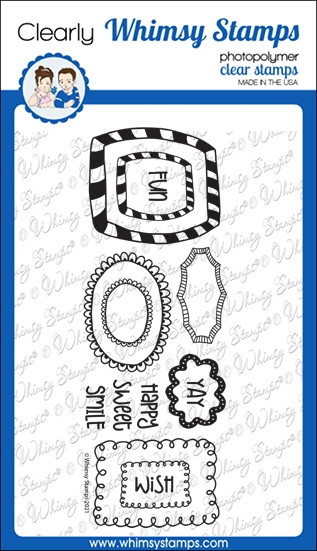 Whimsy Stamps DOODLE FRAMES Clear Stamps CWSD371 zoom image